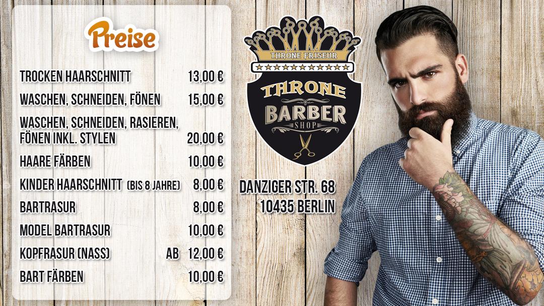throne friseur Prenzlauer Berg Berlin haare schneiden Barbershop Rasieren Bartschnitt Herren Waschen Schneiden Föhnen Stylen Logo 51
